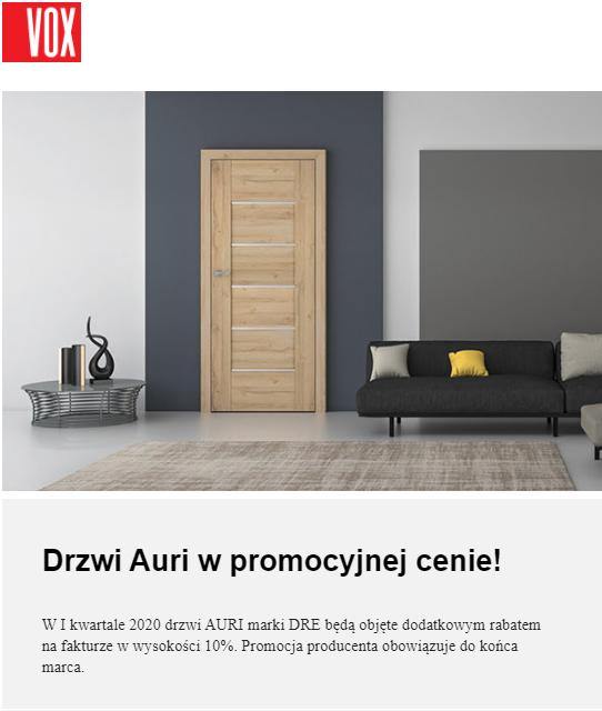 Drzwi auri w promocji
