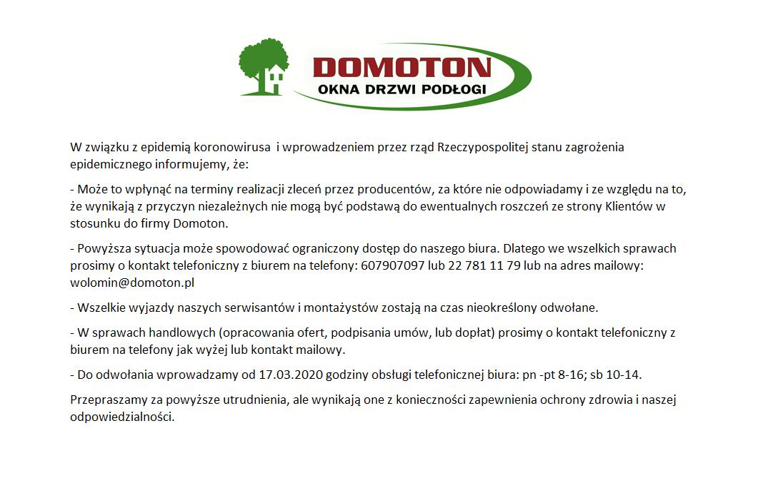 koronawirus Domoton