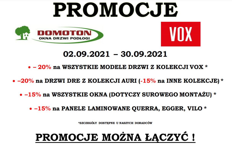 promocja 1.09.2021